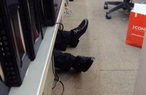お客様から靴を頂きました